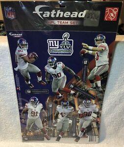 New York Giants Super bowl 46 NFL Mini 7 Inch Fatheads Set New Sealed