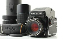 【 EXC+6 】 MAMIYA M645 1000S Prism Finder + 3 Lens (45/80/210mm) From Japan #705