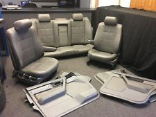 BMW E34 5 series Saloon SE Grey Silver Leather Interior - Seats & Door Panels