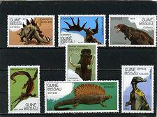 Guinée-Bissau 1989 Sc#827-833 PREHISTORICAL ANIMAUX JEU DE 7 TIMBRES MNH