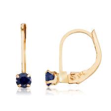14k Petite Sapphire Leverback Earrings