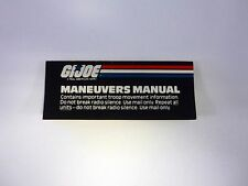 GI JOE MANEUVERS MANUAL CATALOG Vintage Brochure Booklet COMPLETE 1987