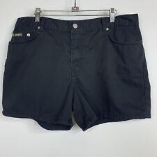 Calvin Klein Womens Size 15 16 Jean Shorts Black Pockets E1