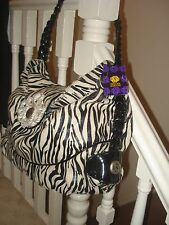 Mischa Barton label handbag (zebra) - new with tags (reduced for quick sale)