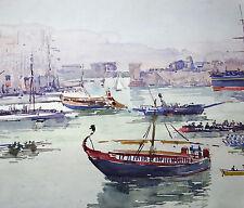MARSEILLE Vieux Port 1899 FETES MARITIME  JULLIEN ROUSSET 1859 1921