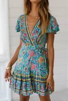 Evening dress sundress party summer maxi cocktail beach short Women's floral