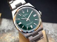 Unworn 2020 Rolex Oyster Perpetual M126000 36mm Green Dial Investment Watch