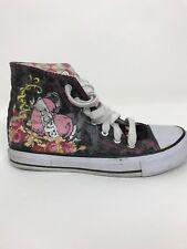 Love Hearts Airwalk Canvas Hightop Shoes Gray Womens 6 1/2