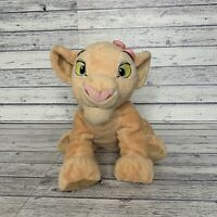 "Disney Store Nala with Pink Flower Plush Stamped Cuddly Soft Toy 12"" LION KING"