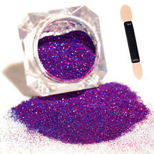With Brush Purple Starry Holographic Laser Powder Holo Nail Art Glitter Powder