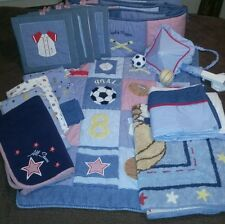 "Pre Owned~Lambs & Ivy ""All Star Baby"" Boys 14 -Piece Sports Nursery Bedding Set"