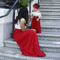 US STOCK Kids Baby Girls Princess Party Dress Tops+Tutu Skirts 2PCS Clothes 1-6T