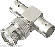 "BNC ""Tee"" RF Adapter - Female / Male / Female.  Pack of  6 - CLEARANCE PRICING!"