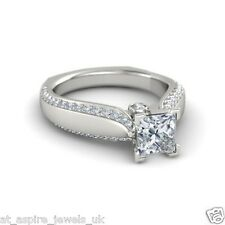 1.75ct Princess Solitaire Diamond Engagement Ring Euro Shank Solid 14ct Gold