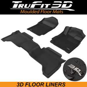 Trufit Floor Liners for Ford Ranger PX3 Dual Cab 2018-2021 3D Rubber Floor Mats