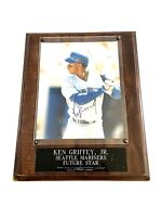 Ken Griffey Jr. Signed 12 x 15 Photo Wall Plaque Seattle Mariners MLB Stamped