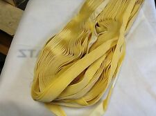 "10 Yrd Yellow Gold HANK FRENCH 5/8"" Vintage Silk Rayon Satin Back Velvet Ribbon"
