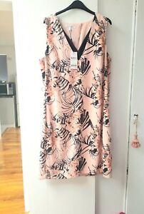 NEXT FLORAL SHIFT DRESS SIZE UK 16 TALL