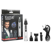 KEMEI Electric Nose Ear Face Hair Removal Trimmer Shaver Clipper Cleaner Remover