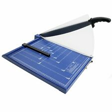 More details for new professional grade a3 a4 paper guillotine cutter trimmer - blue