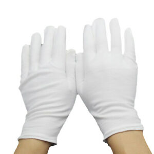 White Purified Cotton Gloves Waiters Drivers Jewelry Workers Sweatproof Gloves