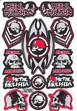 1 SHEET NEW METAL MULISHA MOTOCROSS ATV ENDURO BIKE RACING DECAL STICKER SK126