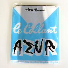 Collant  vintage - AZUR - Modèle Helanca - avec gousset  Taille 1 - France