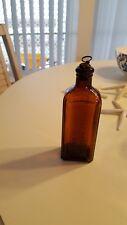 Civil War Mange Brown Bottle original cork plug New York Glover's Imperial