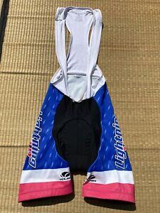 Voler Cycling Bib Shorts Mens Size Small Lightning Velo Black Blue White Pink