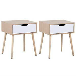 Yaheetech 2 X Modern Accent Bedside Table Sofa Side End Table Nightstand Small