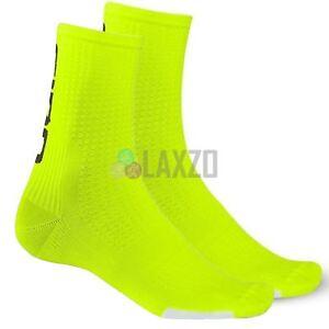 Cycling Socks Giro Hrc Team 2017 Highlight Yellow/Black M Shin Protection