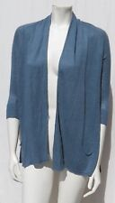 Angel of the North Anthropologie Blue Tiered Linen Stretch Knit Long Cardigan XS
