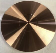 TURNTABLE PLATTER MAT 295mm x 5mm 🇺🇸 99.9% PURE SOLID COPPER MADE IN THE USA!!