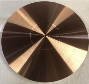 TECHNICS SP-10 TURNTABLE MAT 293mm X 4mm🇺🇸99.9% PURE SOLID COPPER PLATTER USA