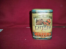 """VINTAGE SMALL TIN!   """"HOMEMADE GINGER WAFERS""""   A+++COND!   SALE!   BUY IT NOW!"""