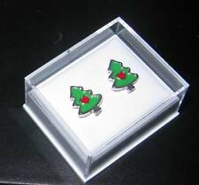 Christmas Tree Stud Earrings - Hypoallergenic 316L Stainless Steel - GIFT BOXED