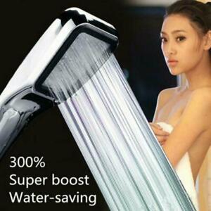 300 Holes High Pressure Shower Head Powerfull Boosting Save Bath Spray U