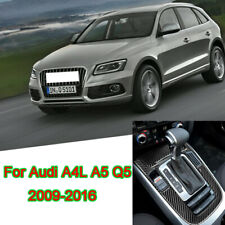 For Audi A4 A5 Q5 2009-16 Carbon Fiber Central Gear Shift Panel Decorative Trim