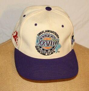 Vintage Super Bowl 28 XXVIII Atlanta 1994 Hat Snapback Wool Embroidered