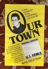 Marshall Crenshaw Our Town Ep rare original promotional poster from 1983