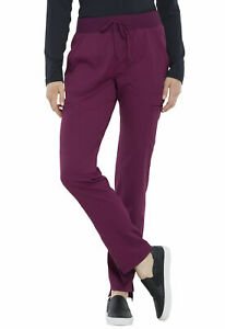 "Elle Scrubs Style #167 Elastic Drawcord Waist Cargo Scrub Pant in ""WINE"" Size M"
