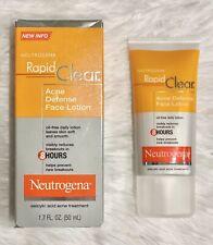 Neutrogena Rapid Clear Acne Defense Face Lotion 1.7 fl oz (50 ml) Exp 12/2020