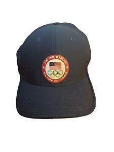 Nike Adult United States Olympic Team Hat Navy Adjustable Dri Fit