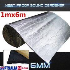 6m×1m 6mm Heat Proof Sound Noice Deadener Insulation Hood Adhesive Muffler Car