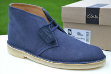 Clarks Originals BNIB Mens DESERT BOOT Navy Fabric UK 10.5 / 45