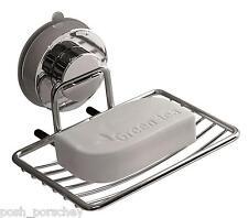 Non rouille forte aspiration en acier inoxydable salle de bain douche soap dish holder rack