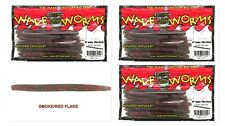 """(3) Unopened Packs Wave Plastics 4"""" Baby Tiki-Stick Smoke Red Flake Brand New"""