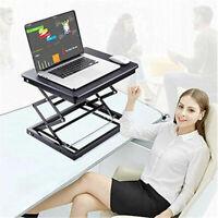 Portable Adjustable Standing Desk Laptop Tabletop Sit to Stand Desk Riser Used