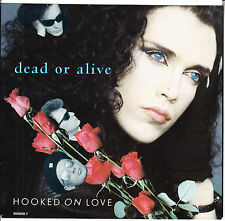 """DEAD OR ALIVE  Hooked On Love PICTURE SLEEVE 7"""" 45 record + juke box title strip"""