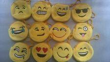 Emoji pouch coin wallet key chain Key ring Bag charm